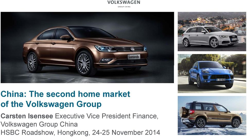 Vice President Finance, Volkswagen Group