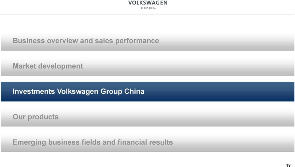 Investments Volkswagen Group China Our
