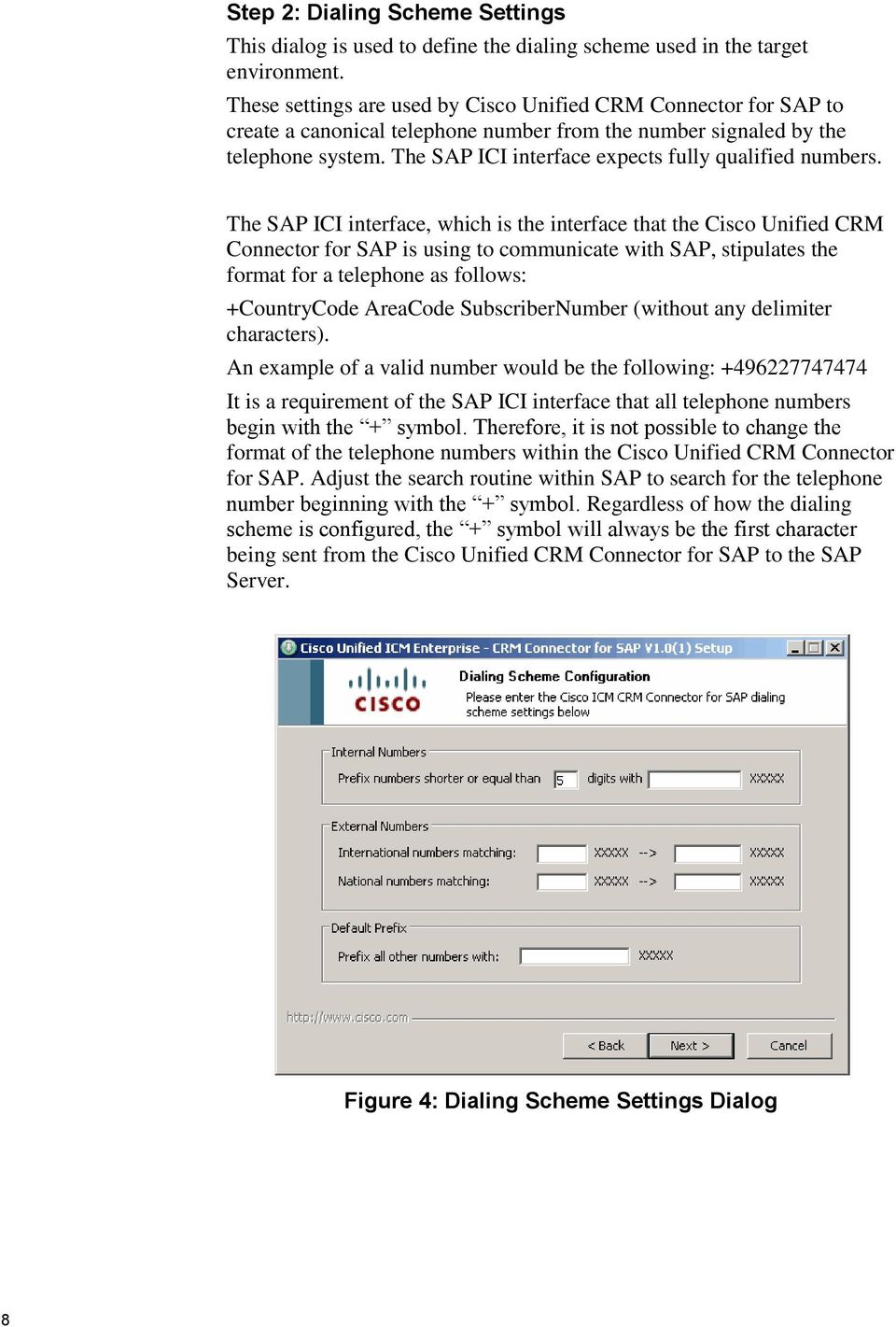 The SAP ICI interface expects fully qualified numbers.