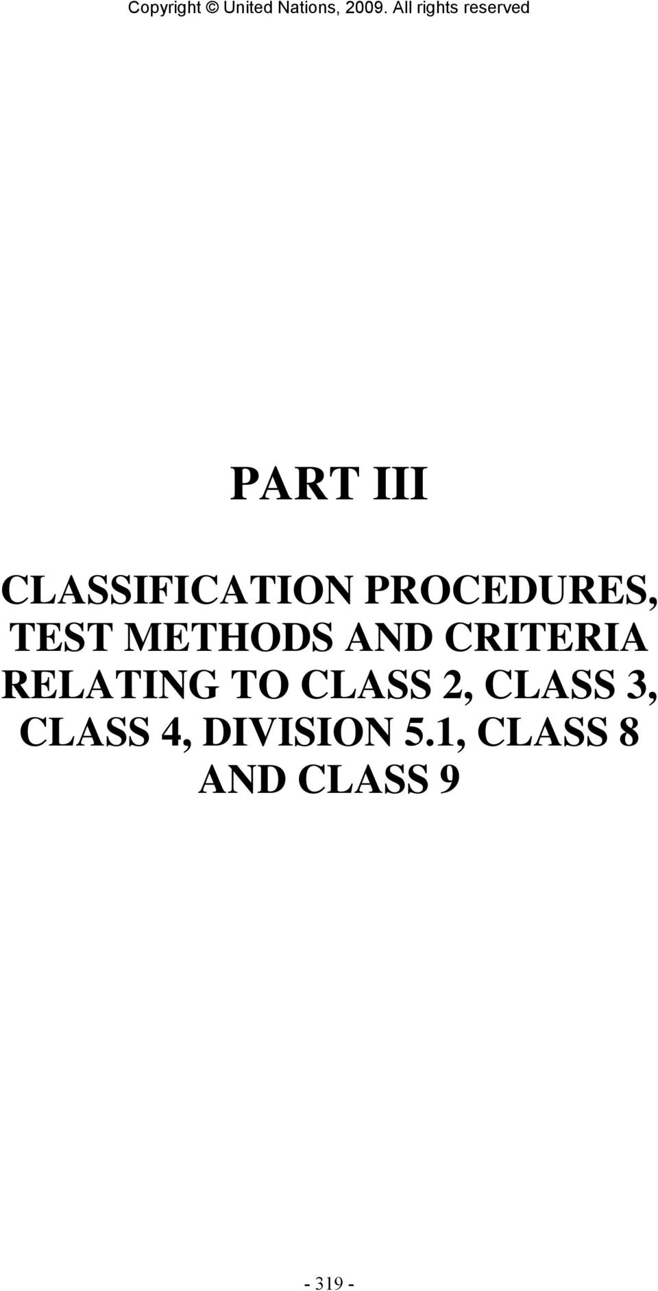 CRITERIA RELATING TO CLASS 2,