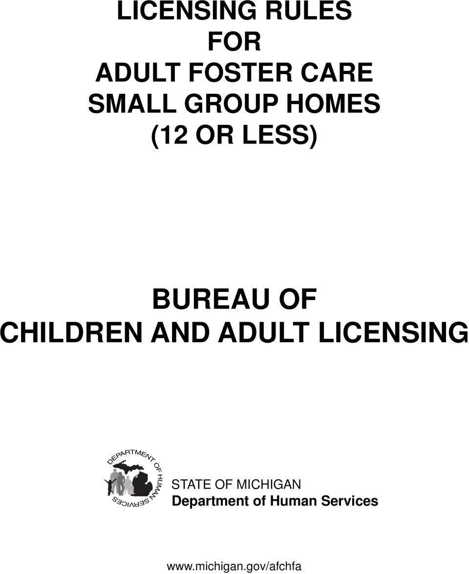 AND ADULT LICENSING STATE OF MICHIGAN