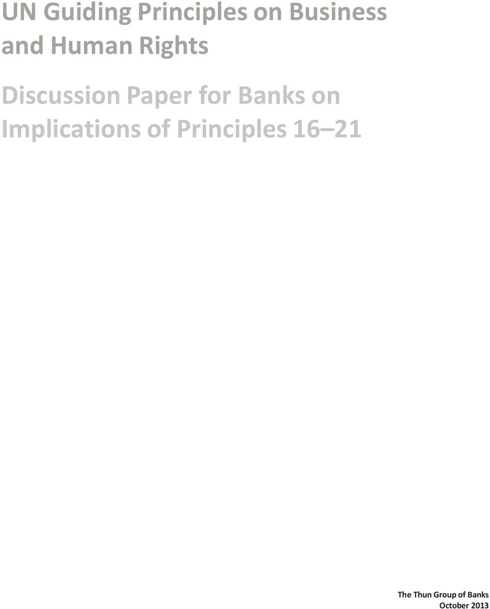 Banks on Implications of Principles