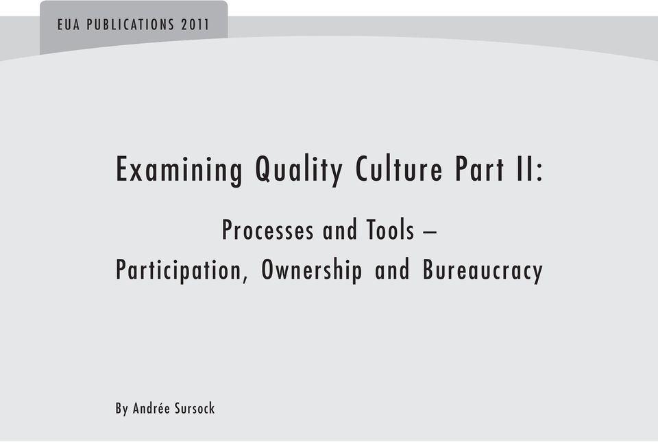 Processes and Tools Participation,