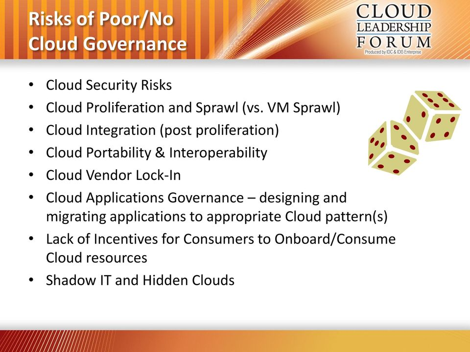 Lock-In Applications Governance designing and migrating applications to appropriate