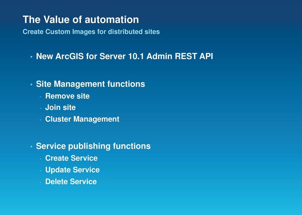 1 Admin REST API Site Management functions - Remove site - Join