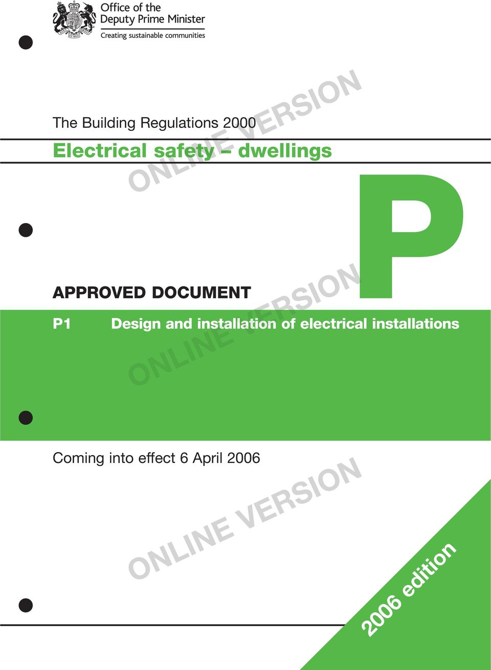 installations APPROVED DOCUMENT