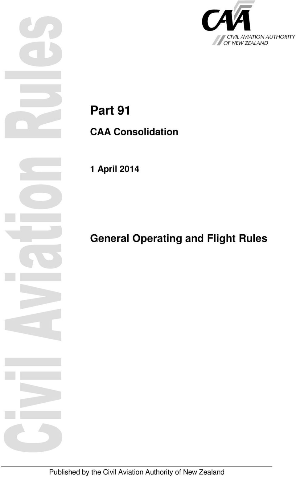 Flight Rules Published by the