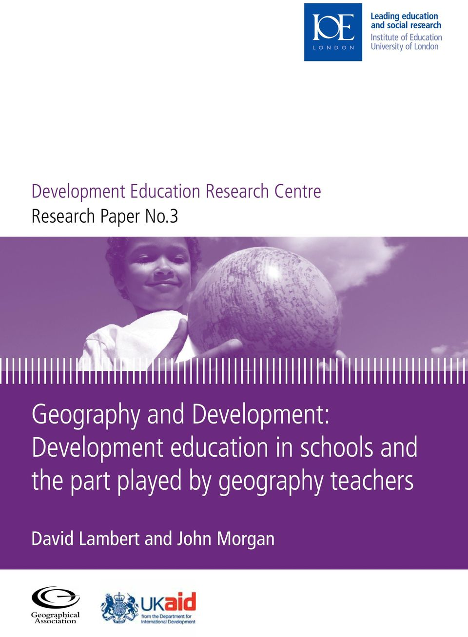uk www.ioe.ac.uk Development Education Research Centre Research Paper No.