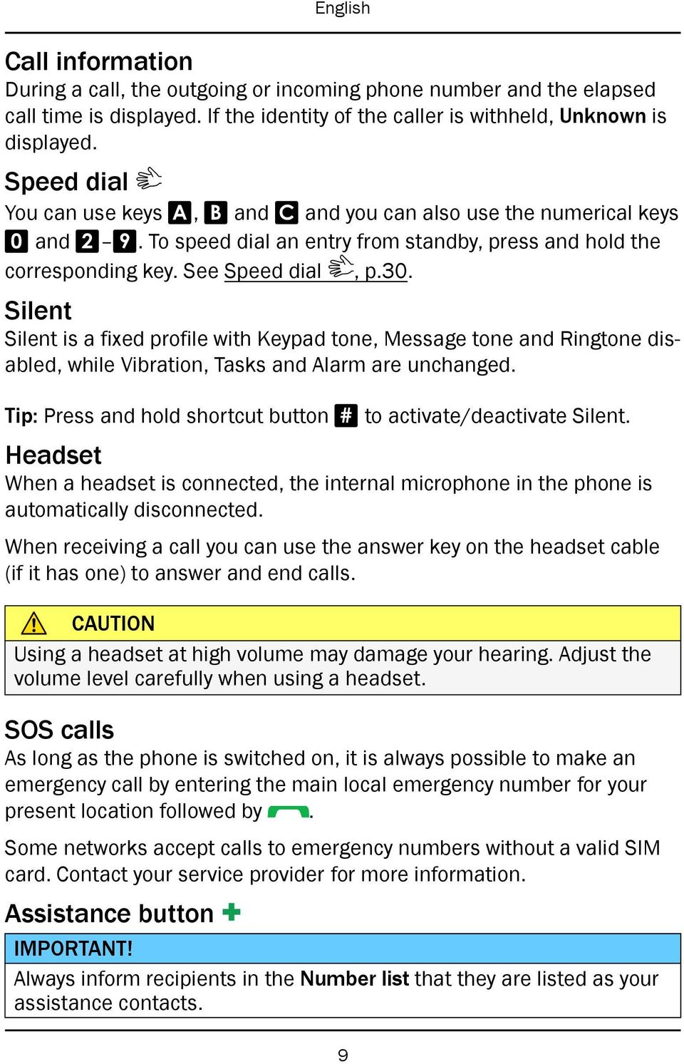 Silent Silent is a fixed profile with Keypad tone, Message tone and Ringtone disabled, while Vibration, Tasks and Alarm are unchanged.