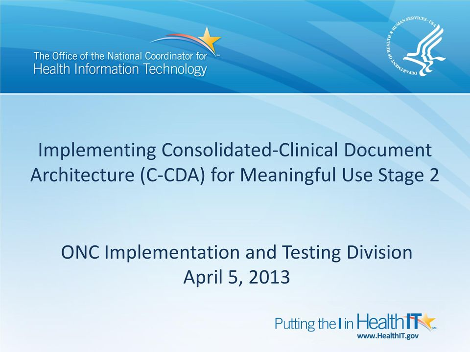 Meaningful Use Stage 2 ONC
