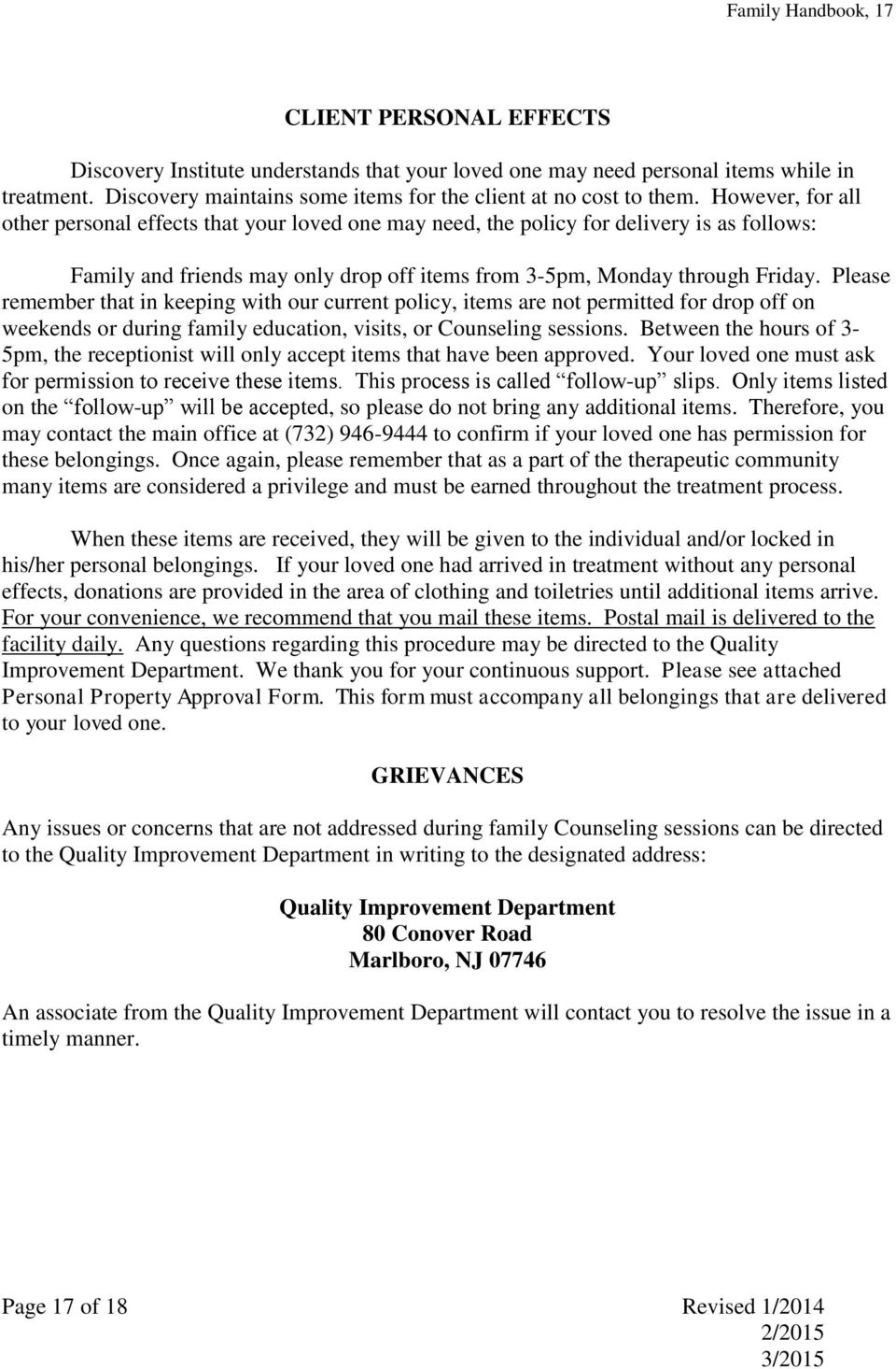 discovery institute for addictive disorders inc pdf