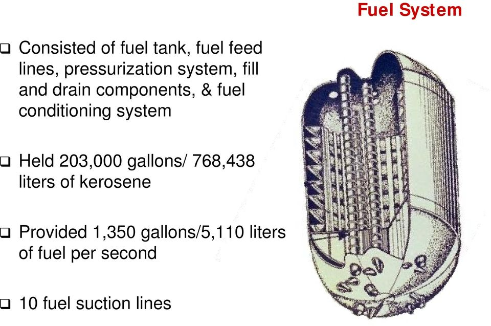 conditioning system Held 203,000 gallons/ 768,438 liters of