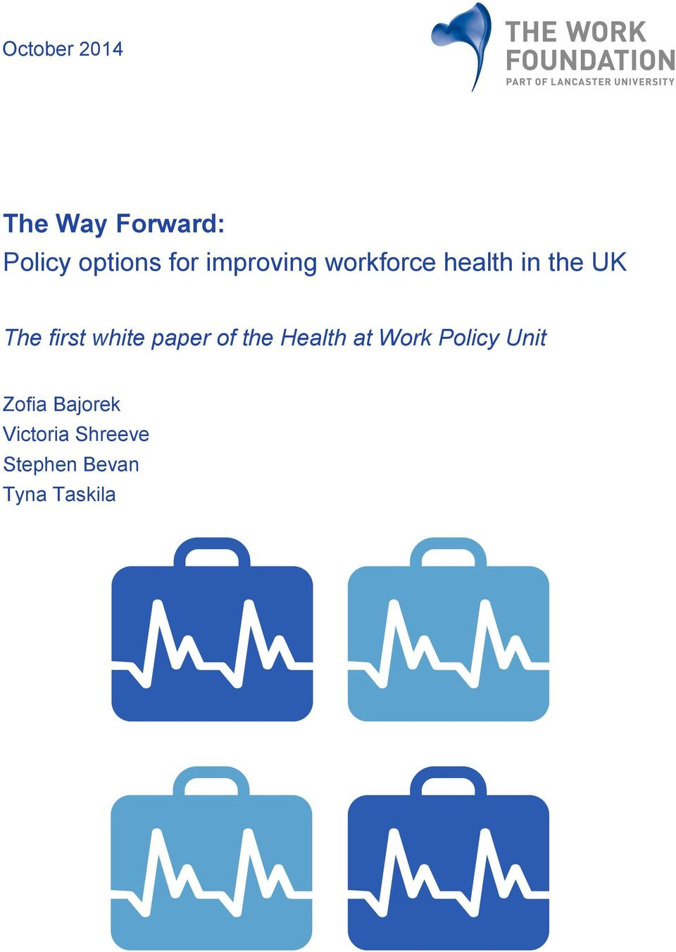 white paper of the Health at Work Policy Unit