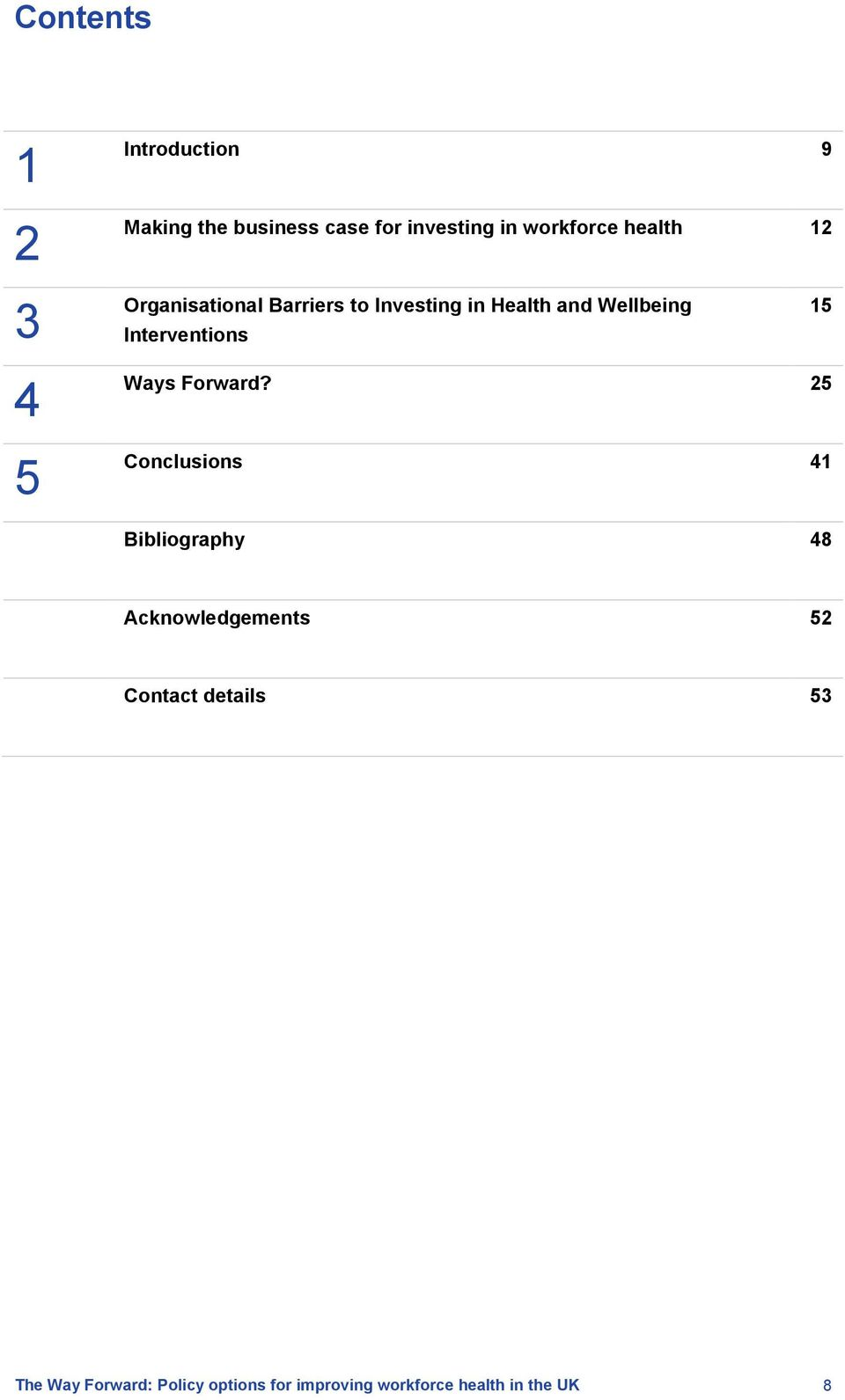 Investing in Health and Wellbeing Interventions 15 4 5 Ways