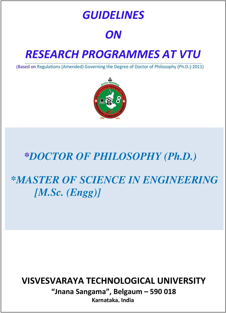 D.) *MASTER OF SCIENCE IN ENGINEERING [M.Sc.