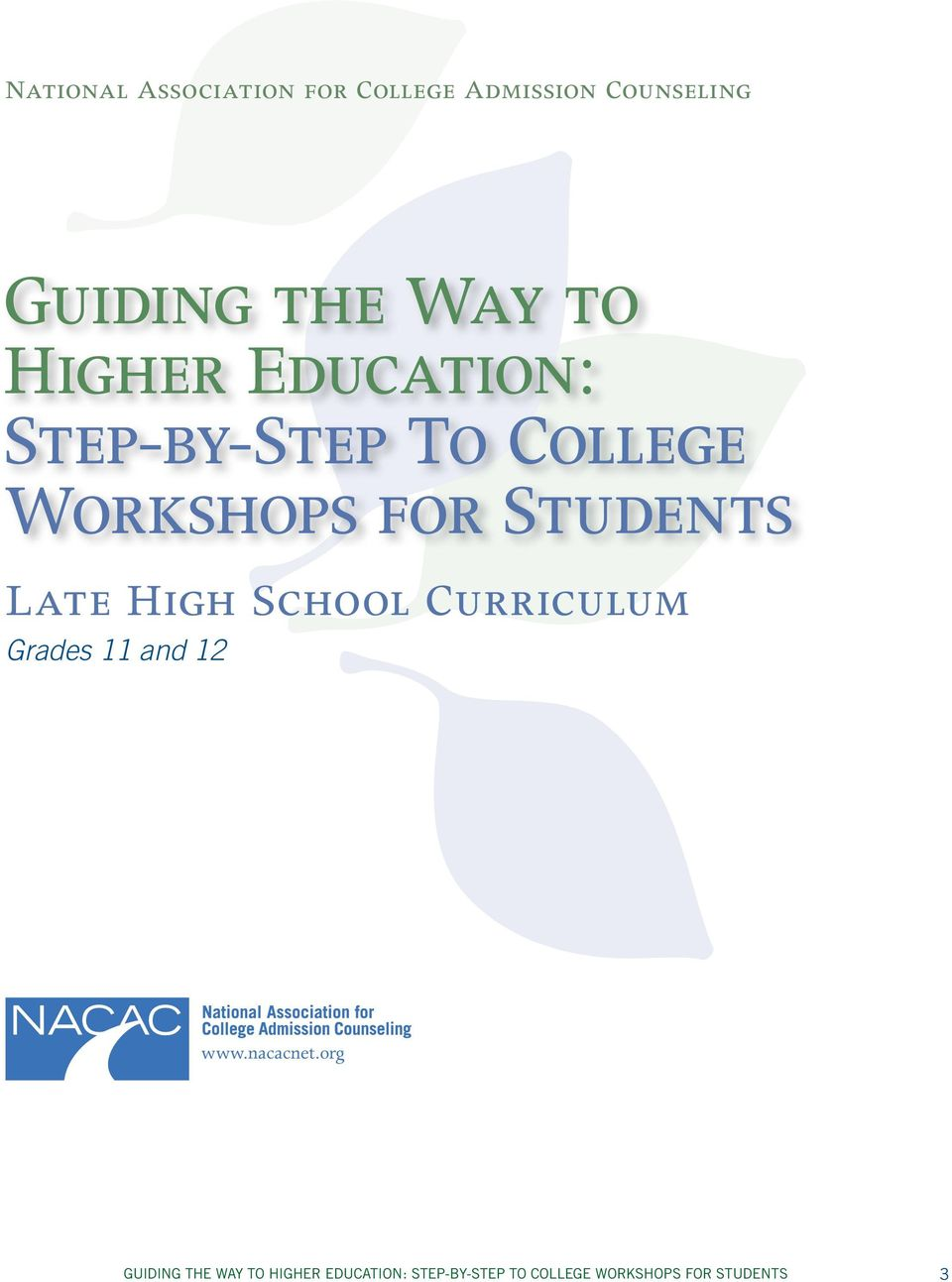 High School Curriculum Grades 11 ad 12 www.acacet.