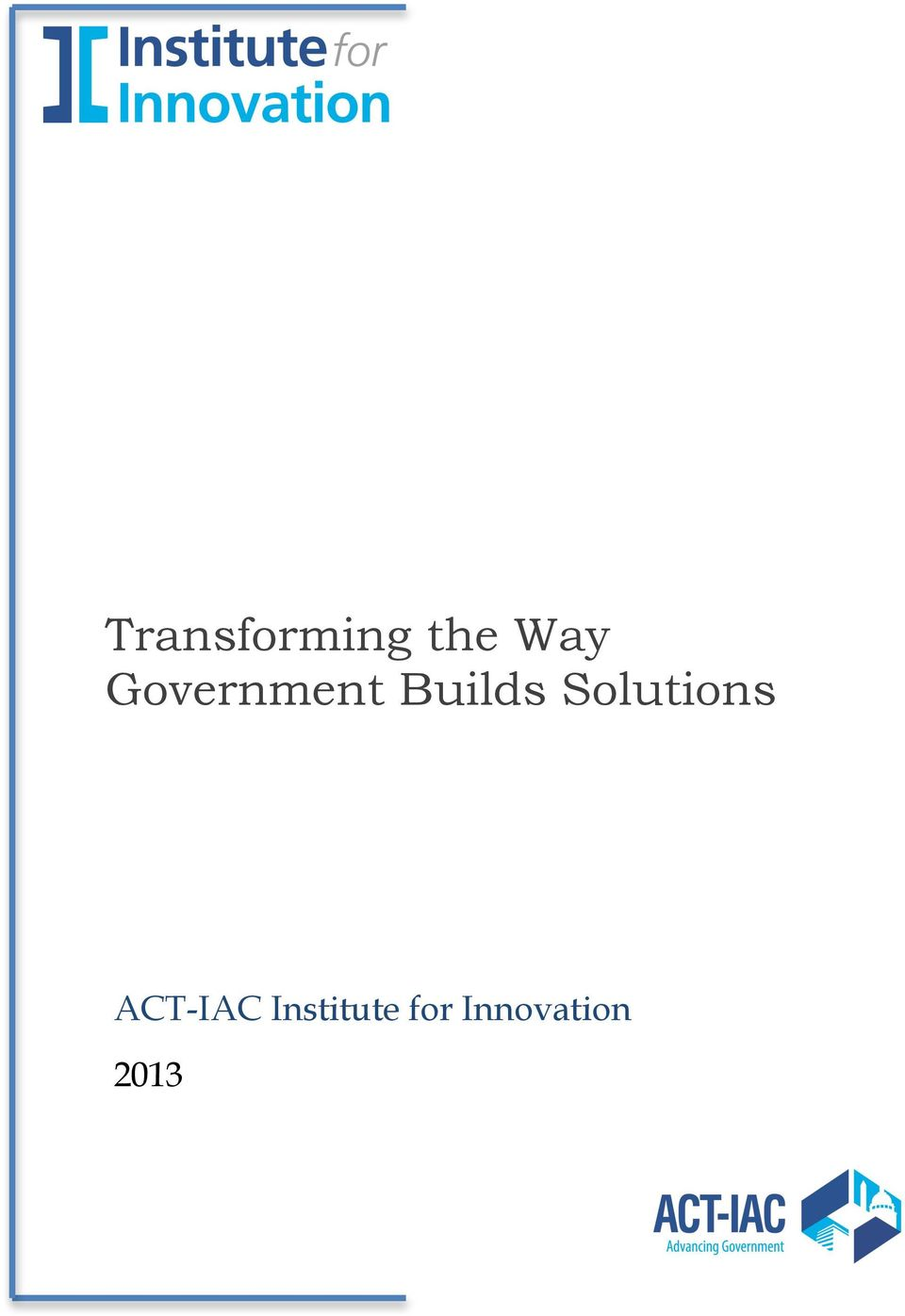Solutions > ACT-IAC