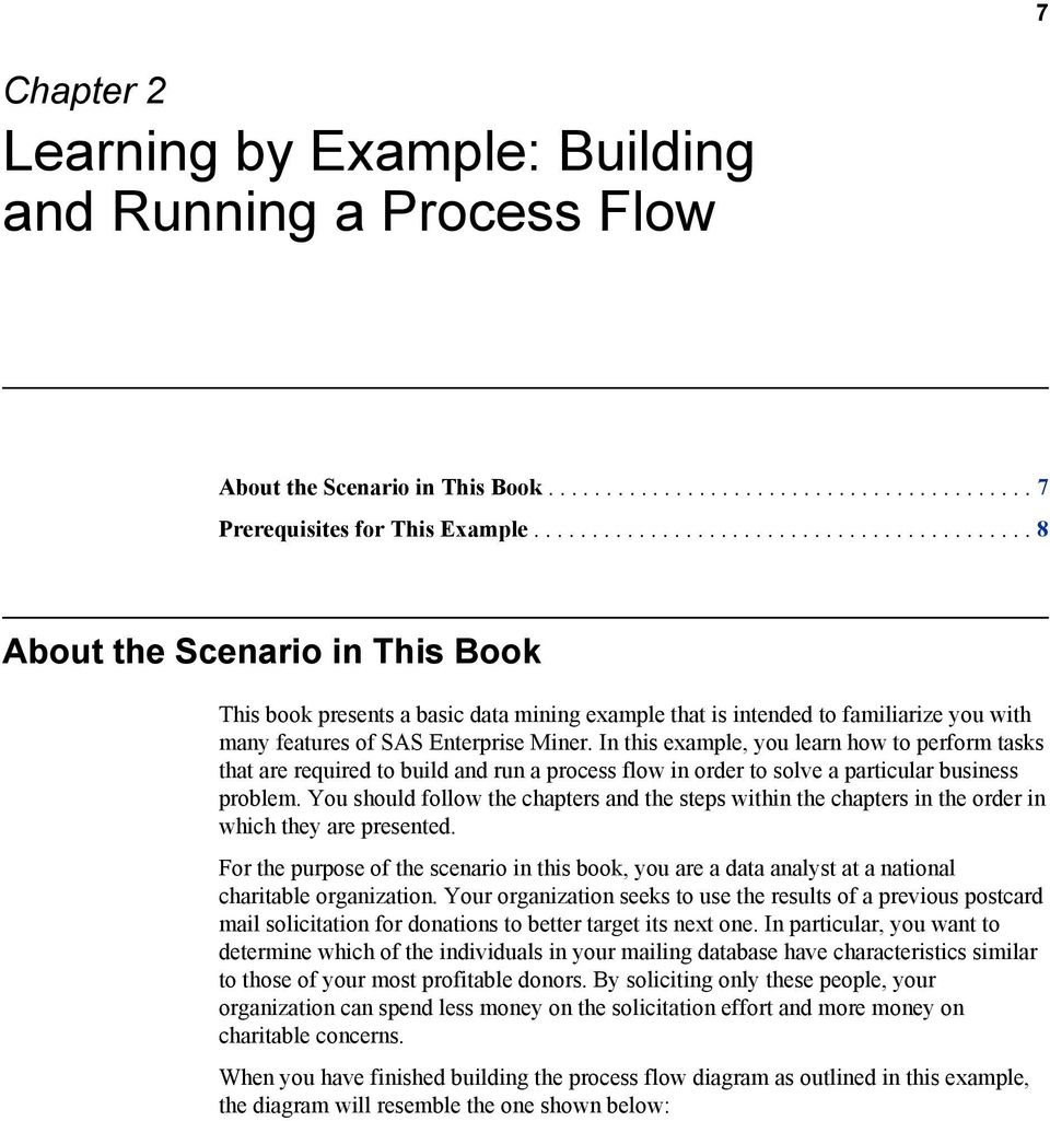 In this example, you learn how to perform tasks that are required to build and run a process flow in order to solve a particular business problem.