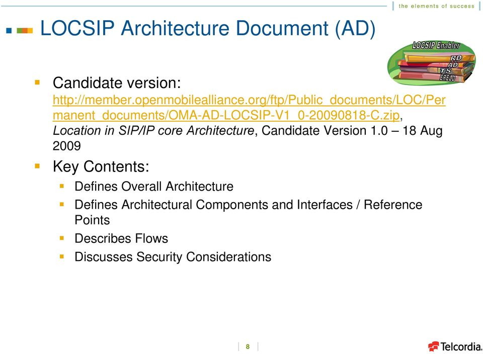 zip, in SIP/IP core Architecture, Candidate Version 1.