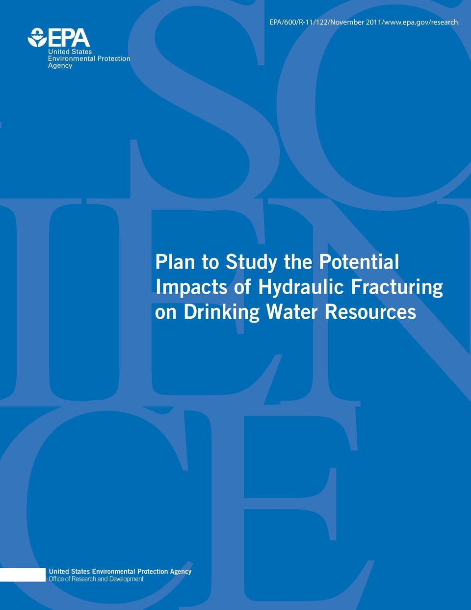 Hydraulic Fracturing on Drinking Water Resources