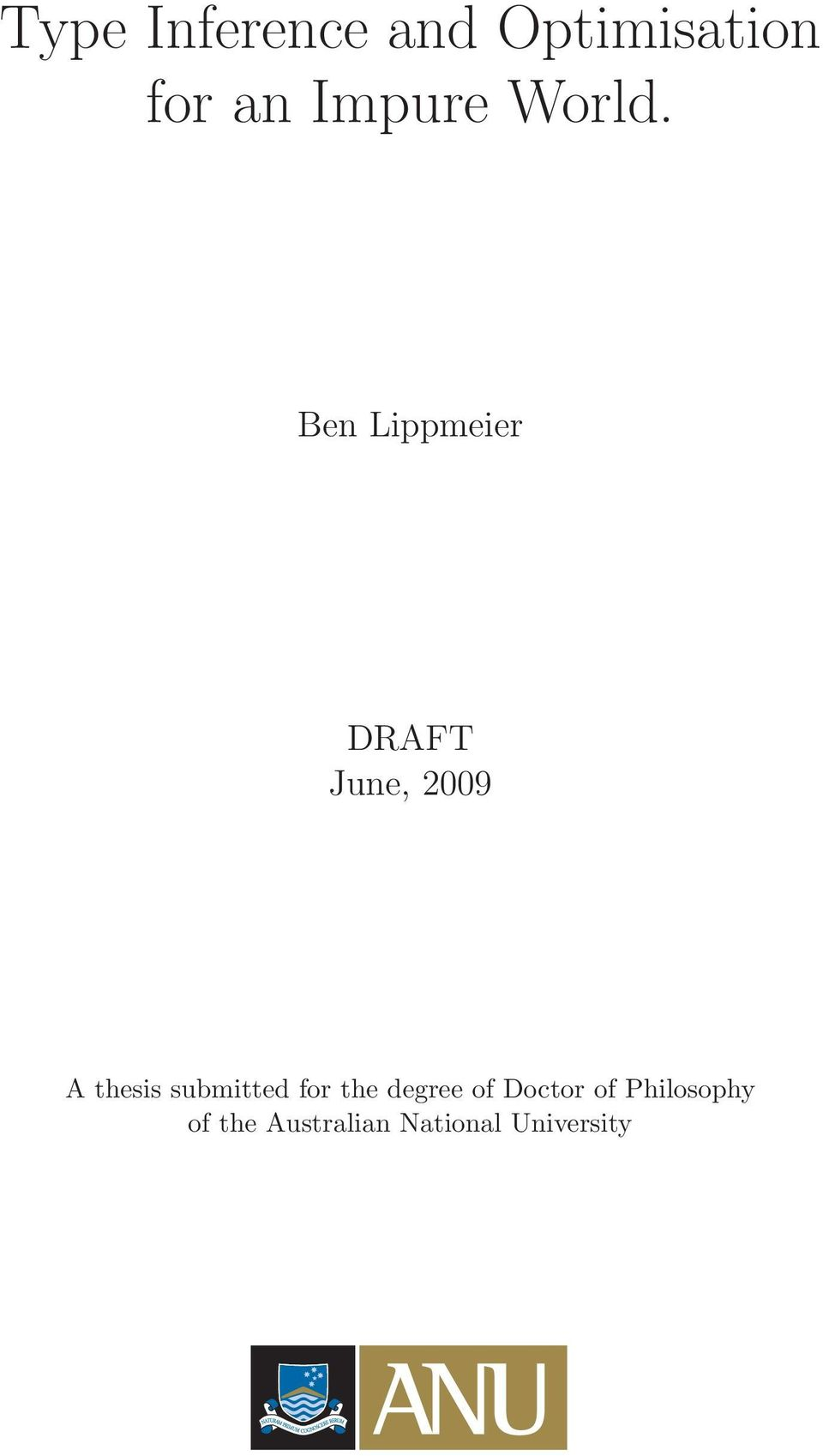 Bn Lippmir DRAFT Jun, 2009 A thsis