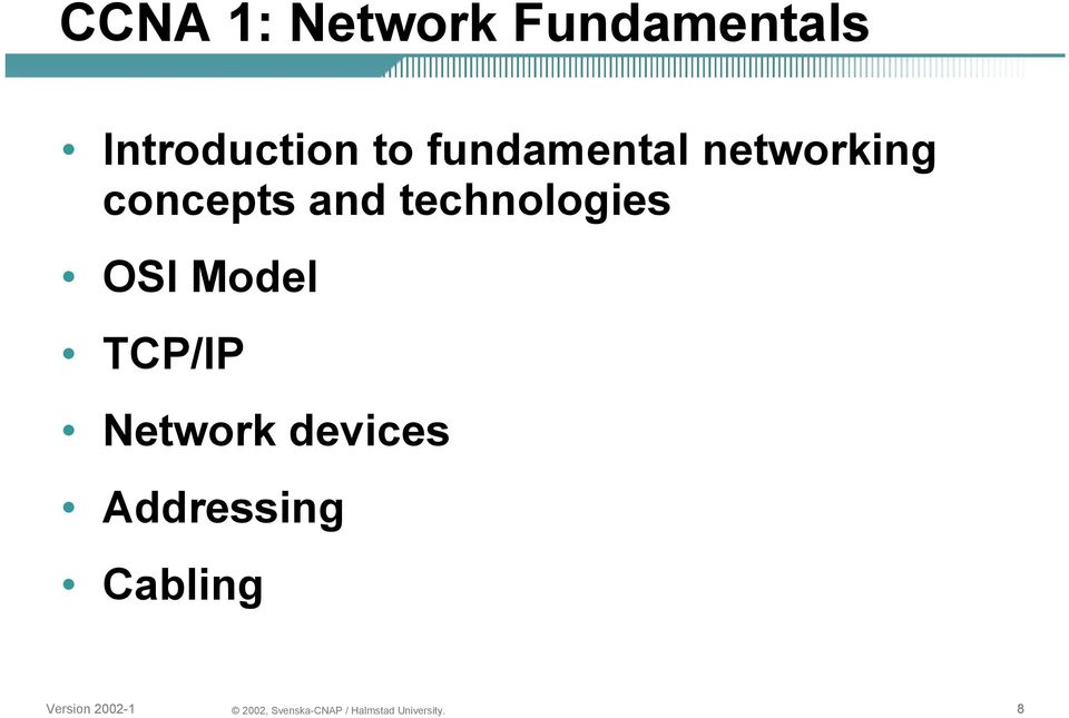 networking concepts and technologies