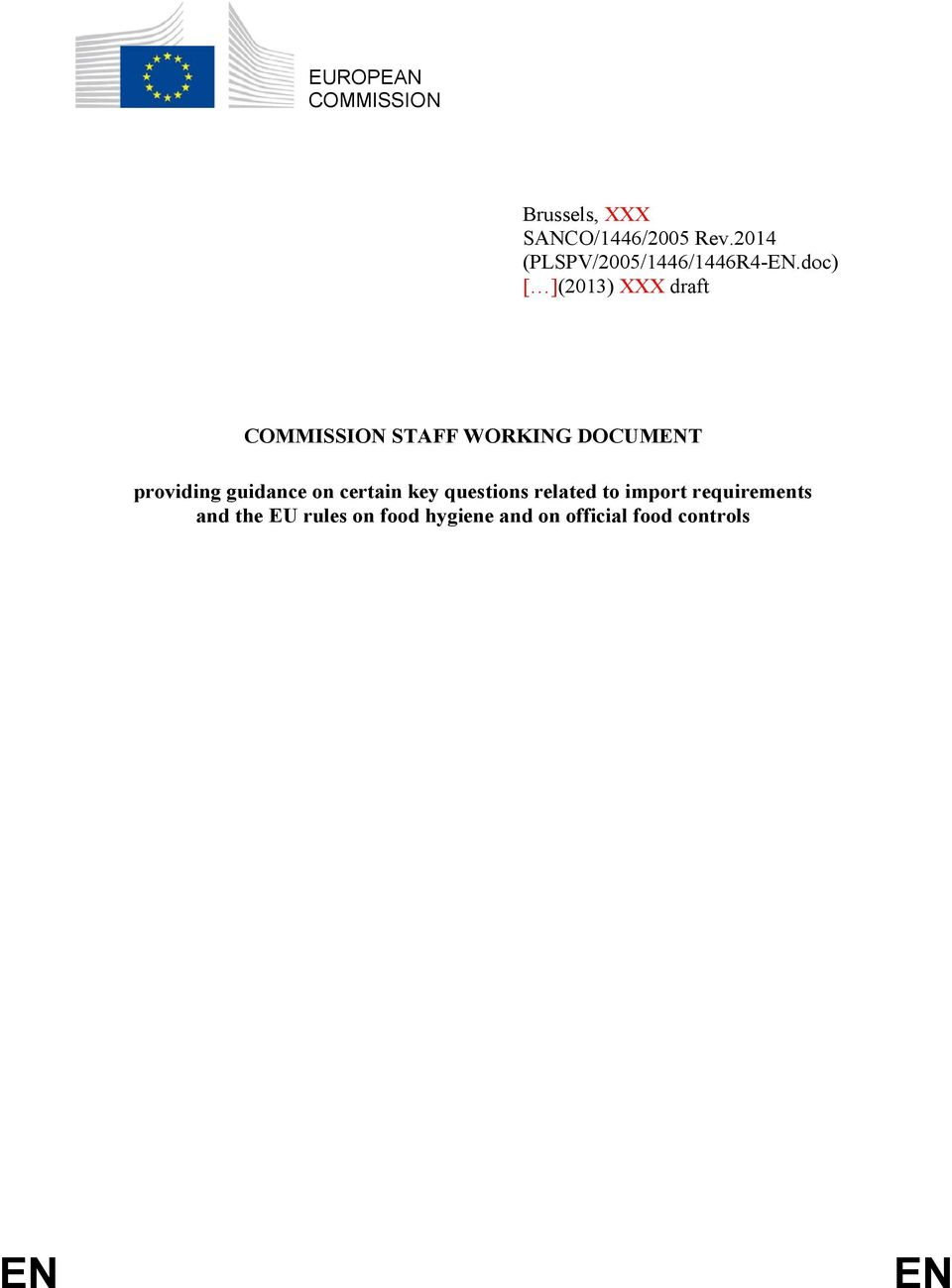 doc) [ ](2013) XXX draft COMMISSION STAFF WORKING DOCUMENT providing