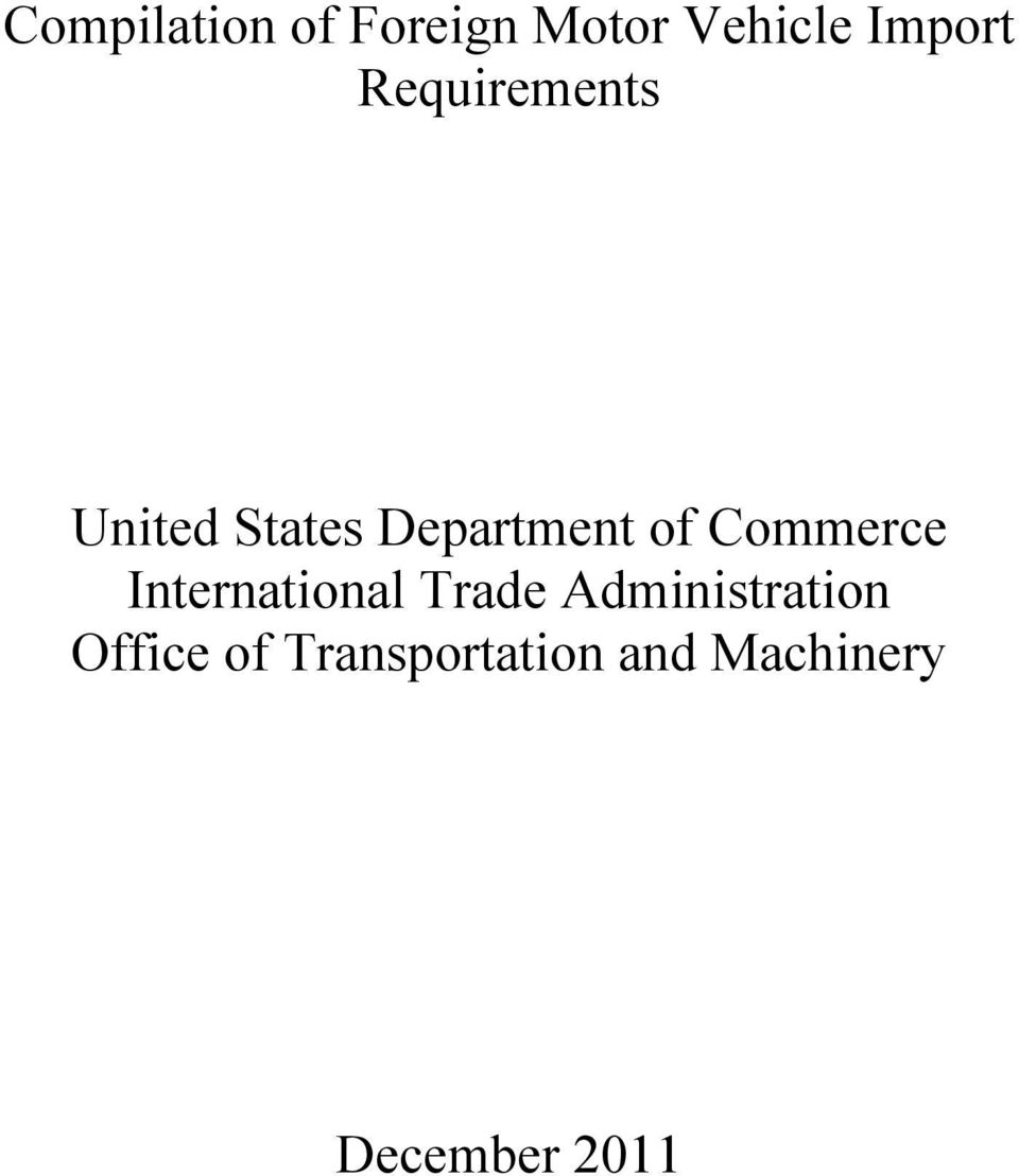 Commerce International Trade Administration