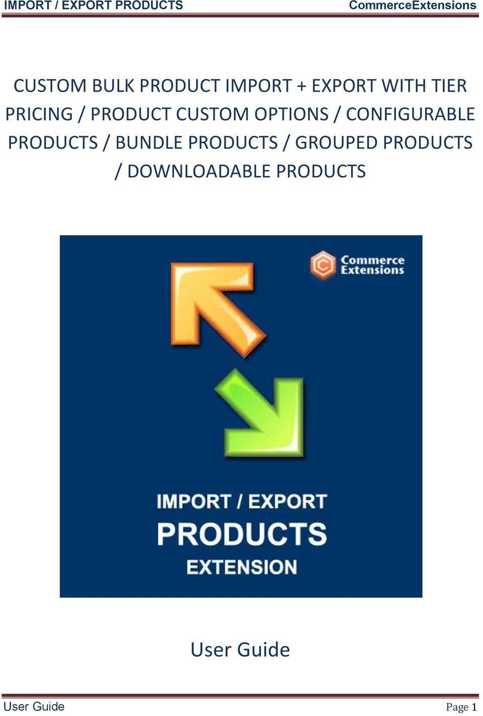 PRODUCTS / BUNDLE PRODUCTS / GROUPED PRODUCTS /