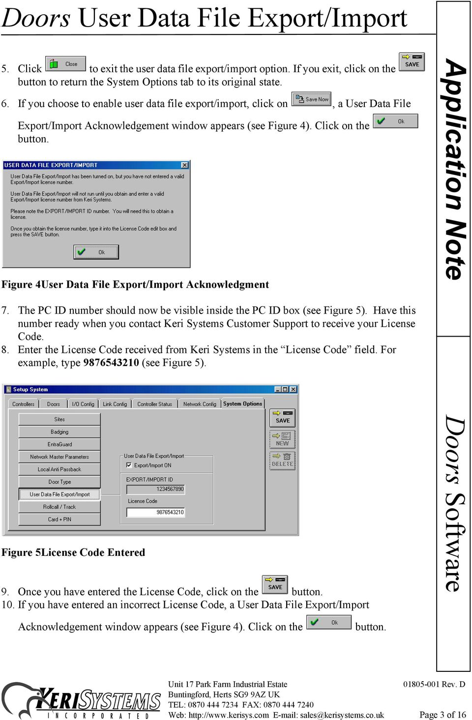 Figure 4User Data File Export/Import Acknowledgment 7. The PC ID number should now be visible inside the PC ID box (see Figure 5).