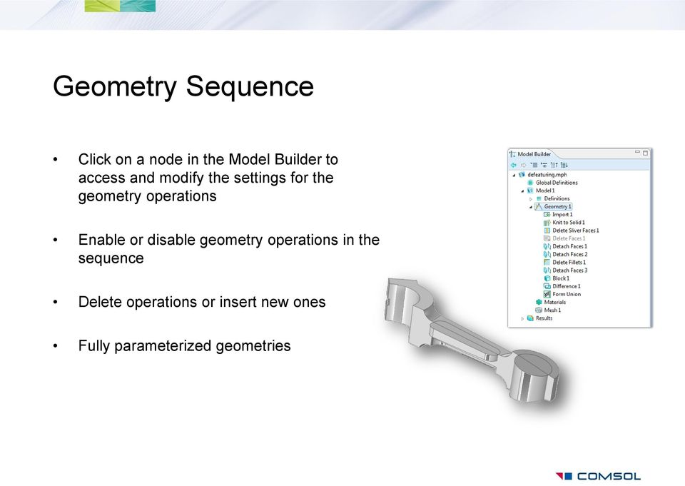 Enable or disable geometry operations in the sequence
