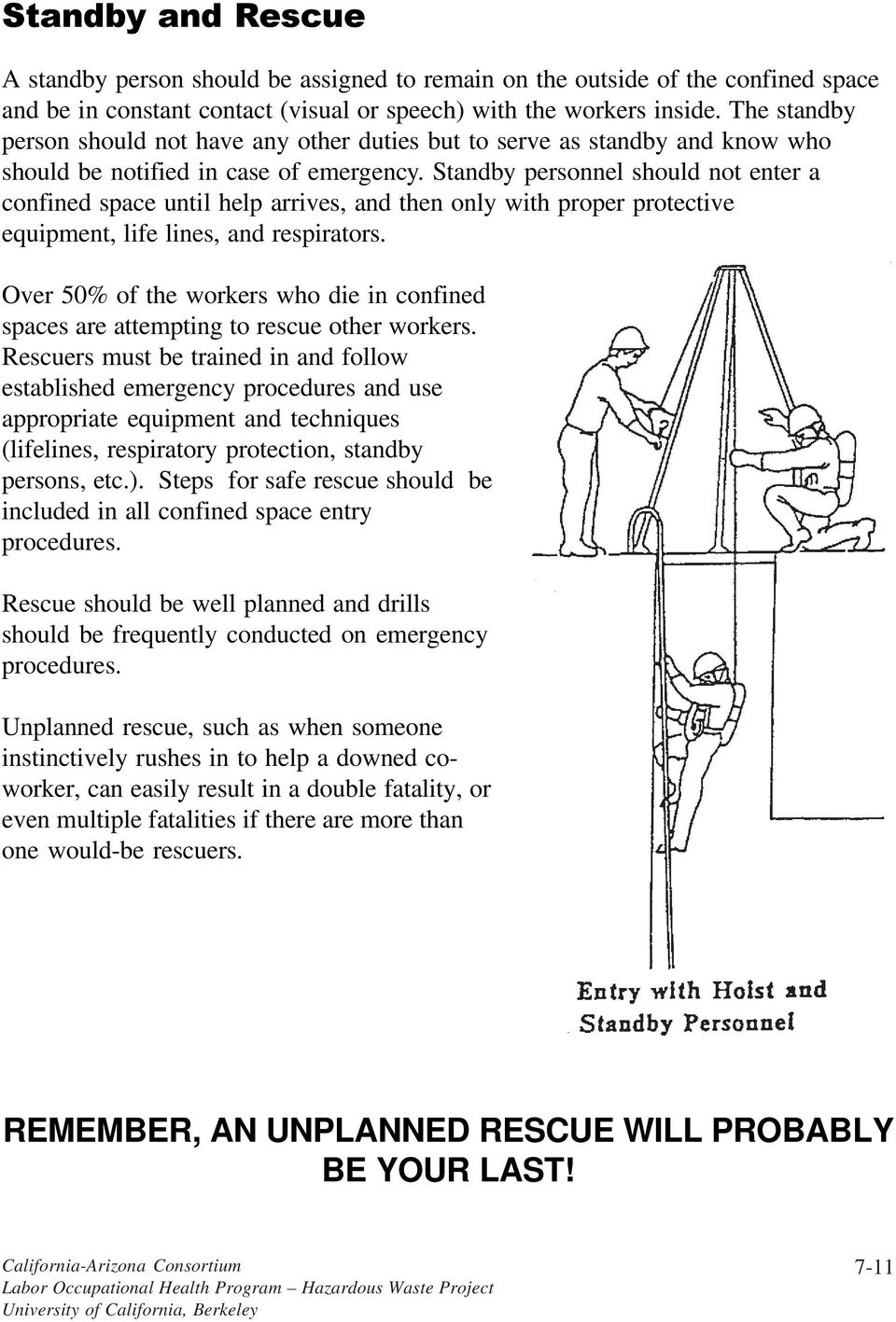 working safely in confined spaces pdf standby personnel should not enter a confined space until help arrives and then only
