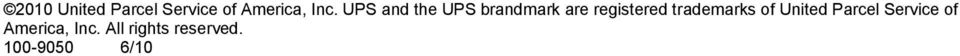 trademarks of United Parcel Service of