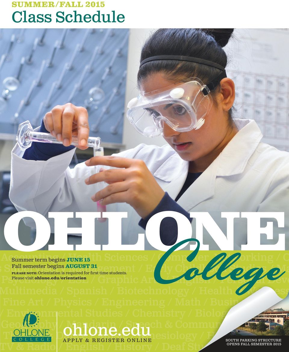 for first time students. Please visit ohlone.