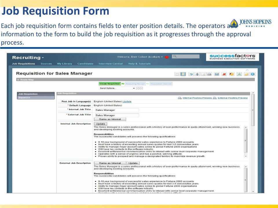 Success factors recruitment management pdf the operators add information to the form to build 13 creating job requisitions 14 job requisition altavistaventures Choice Image
