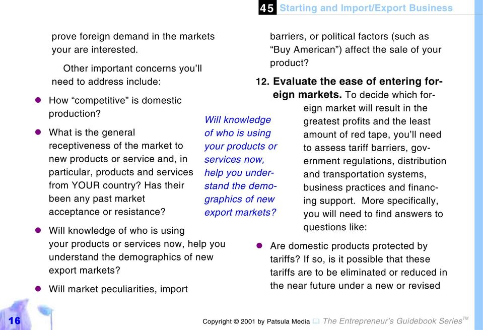 """#Will knowledge of who is using your products or services now, help you understand the demographics of new export markets?"
