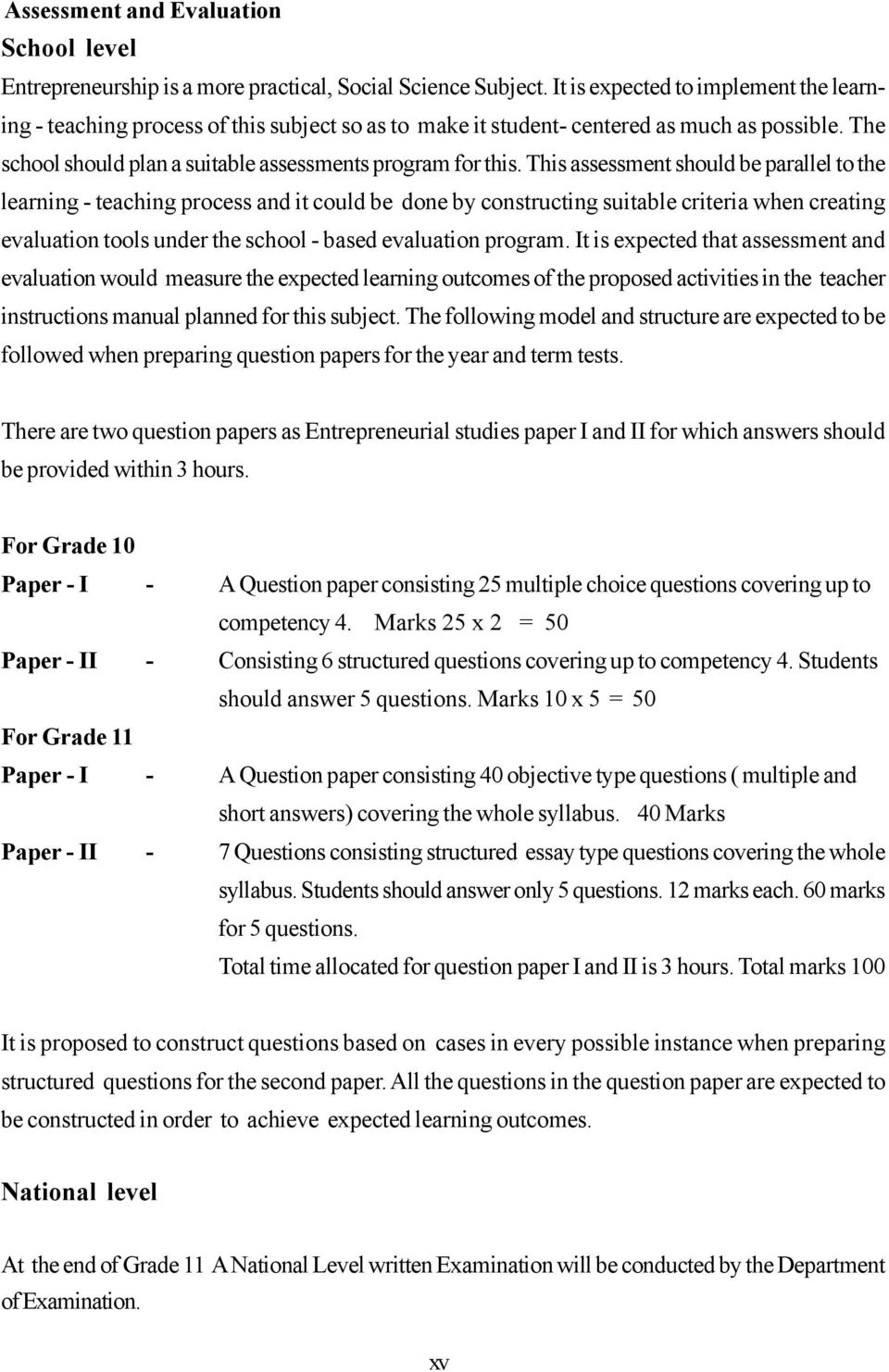 entrepreneurial studies teachers guide grade pdf this assessment should be parallel to the learning teaching process and it could be done