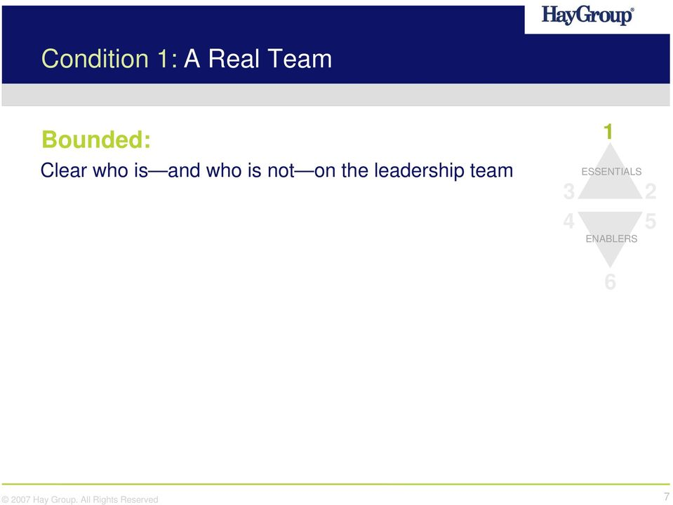 is not on the leadership team
