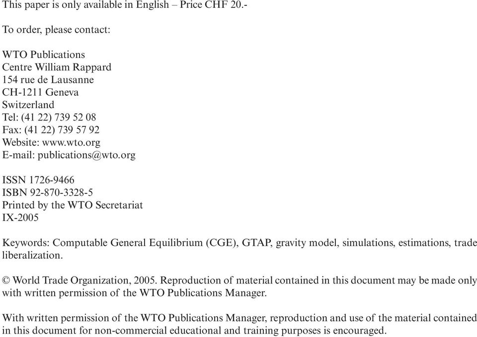 org E-mail: publications@wto.