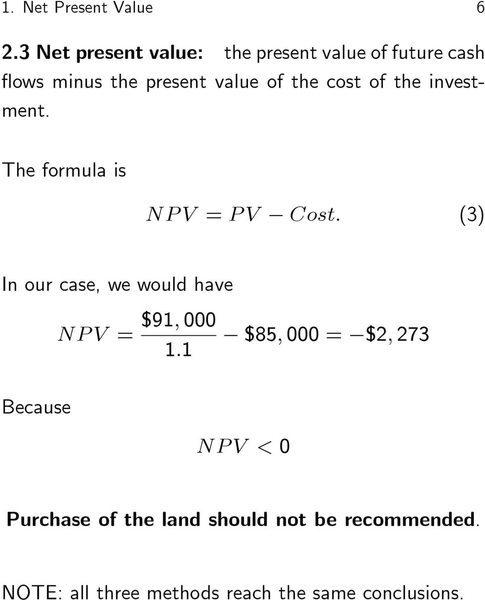 cost of the investment.