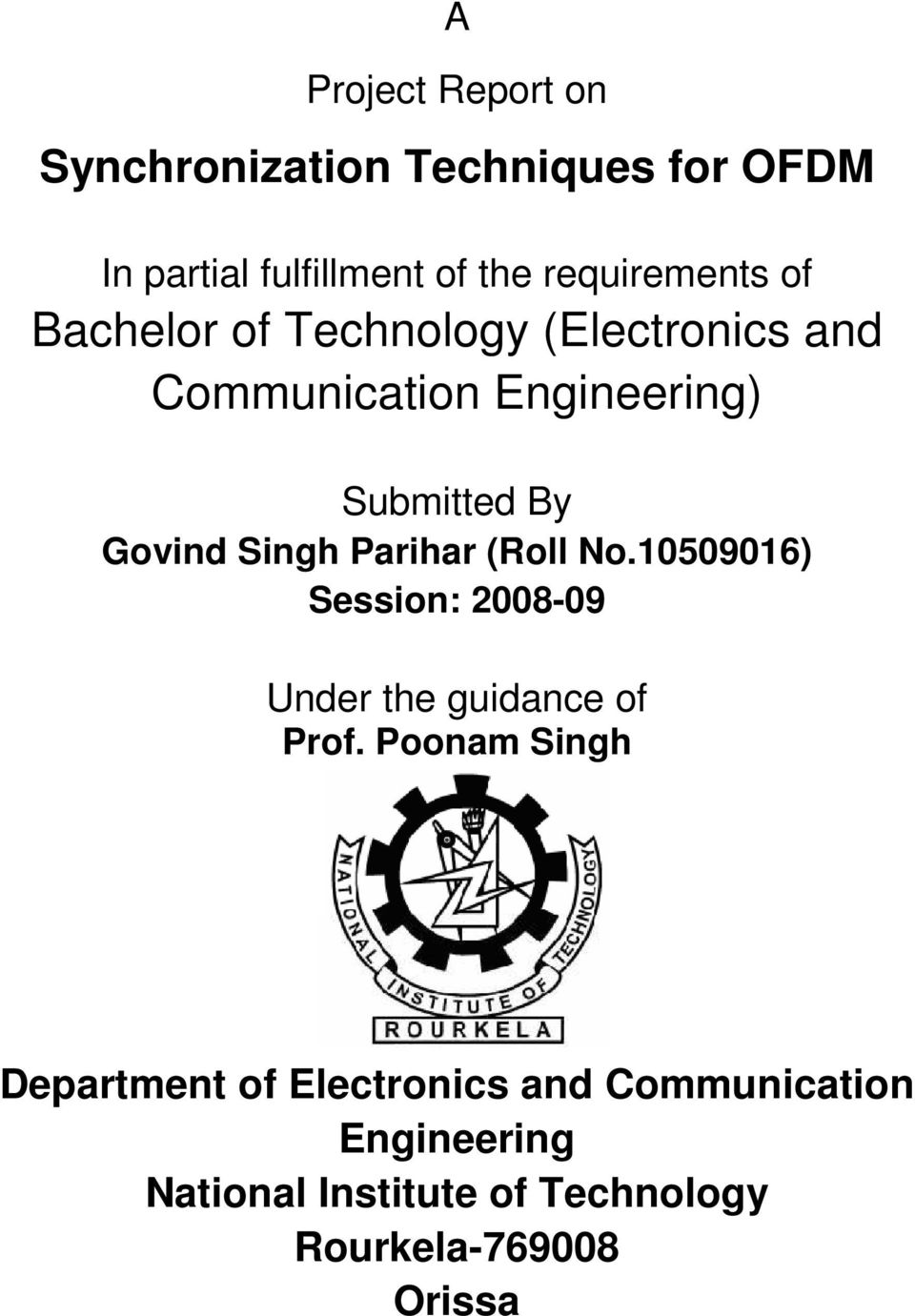 Thesis proposal electronics communication engineering