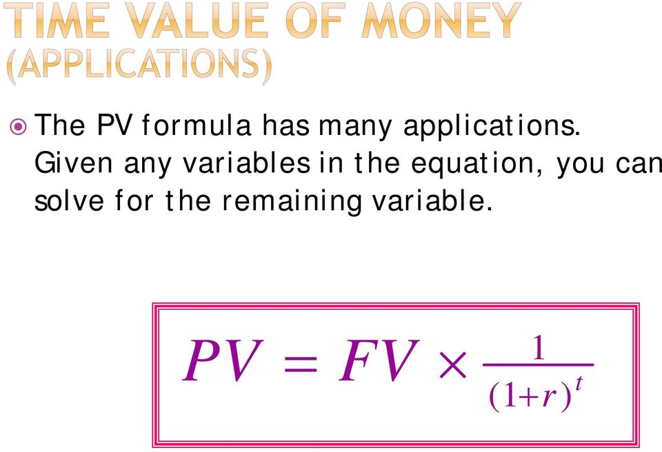 Given any variables in the