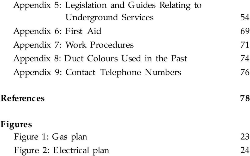 Past 74 Appendix 9: Contact Telephone Numbers 76 References 78 Figures Figure 1: