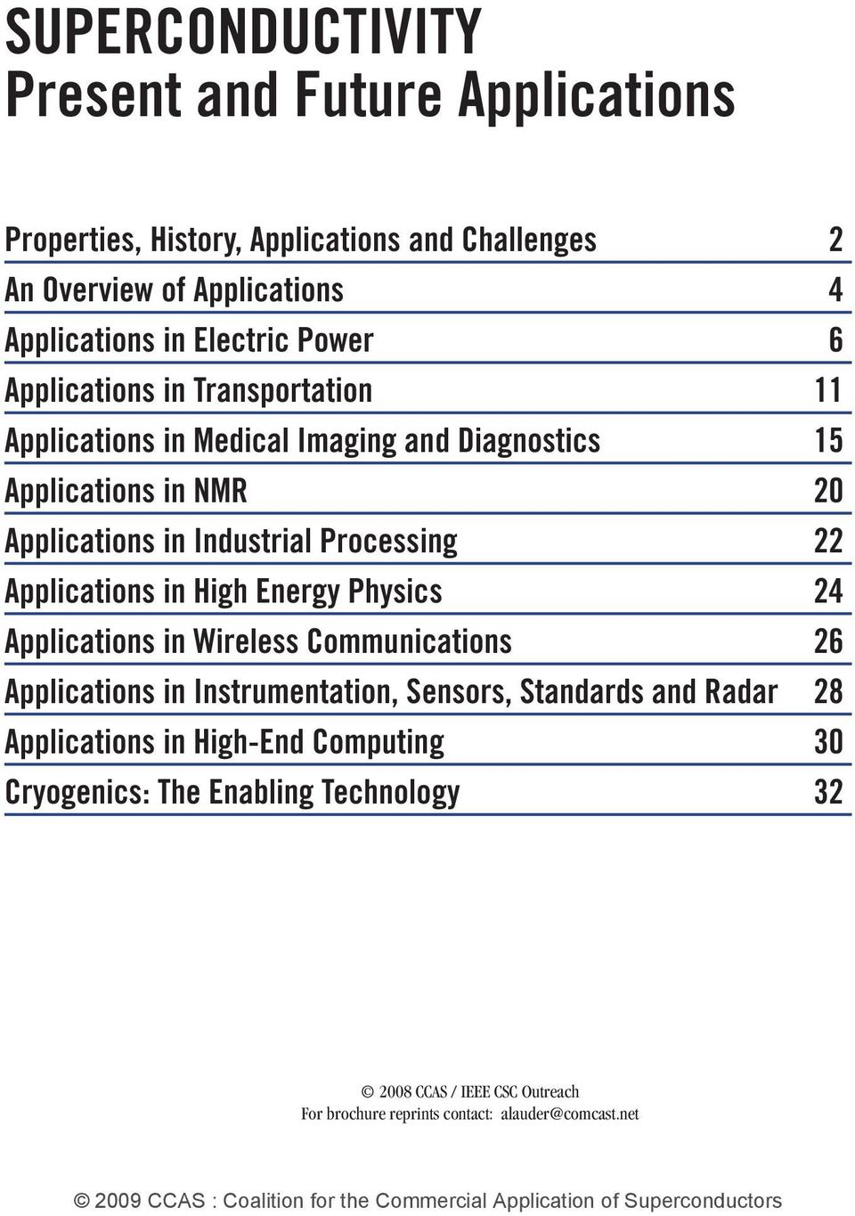 Processing 22 Applications in High Energy Physics 24 Applications in Wireless Communications 26 Applications in Instrumentation, Sensors, Standards and