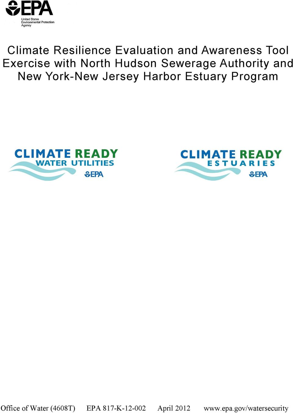 York-New Jersey Harbor Estuary Program Office of Water
