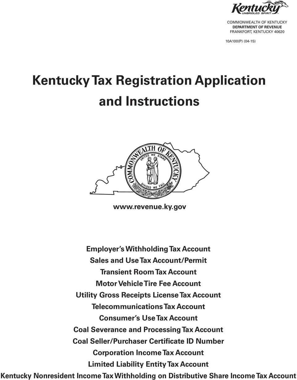 License Tax Account Telecommunications Tax Account Consumer s Use Tax Account Coal Severance and Processing Tax Account Coal Seller/Purchaser Certificate ID