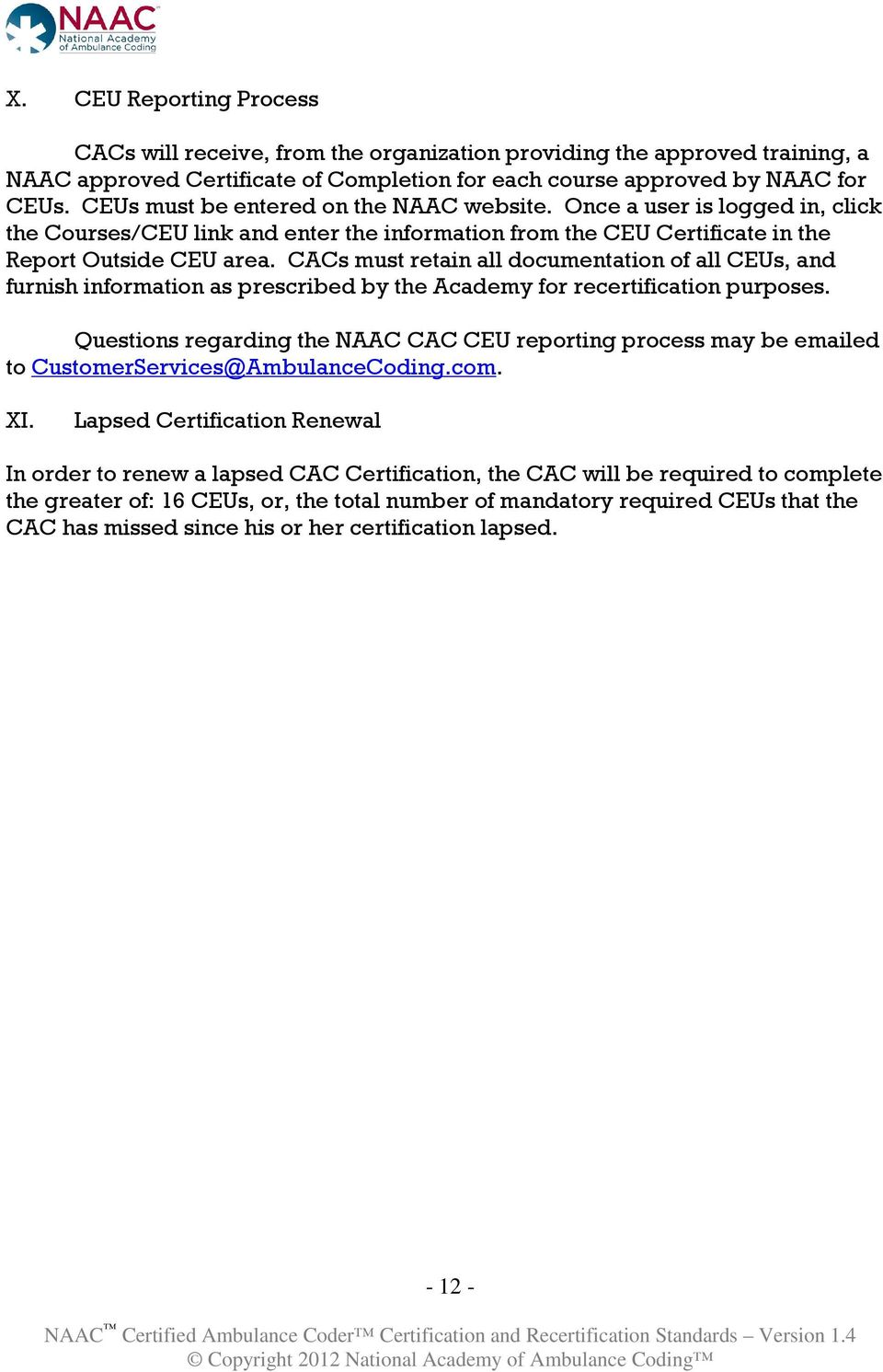 Certified Ambulance Coder Certification And Recertification