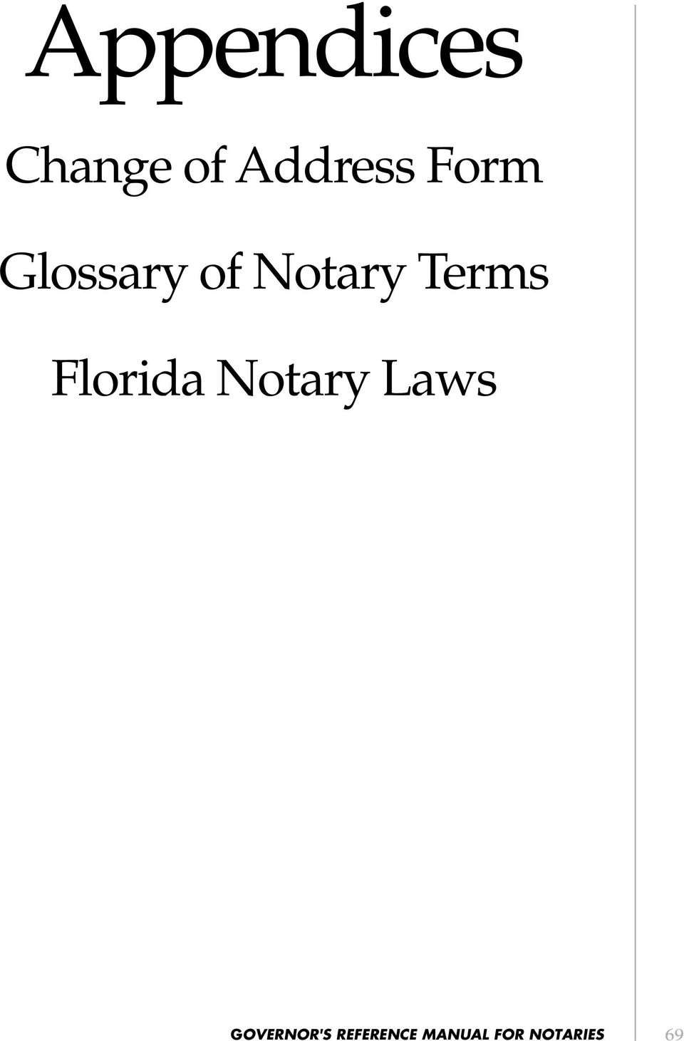 Florida Notary Laws GOVERNOR'S