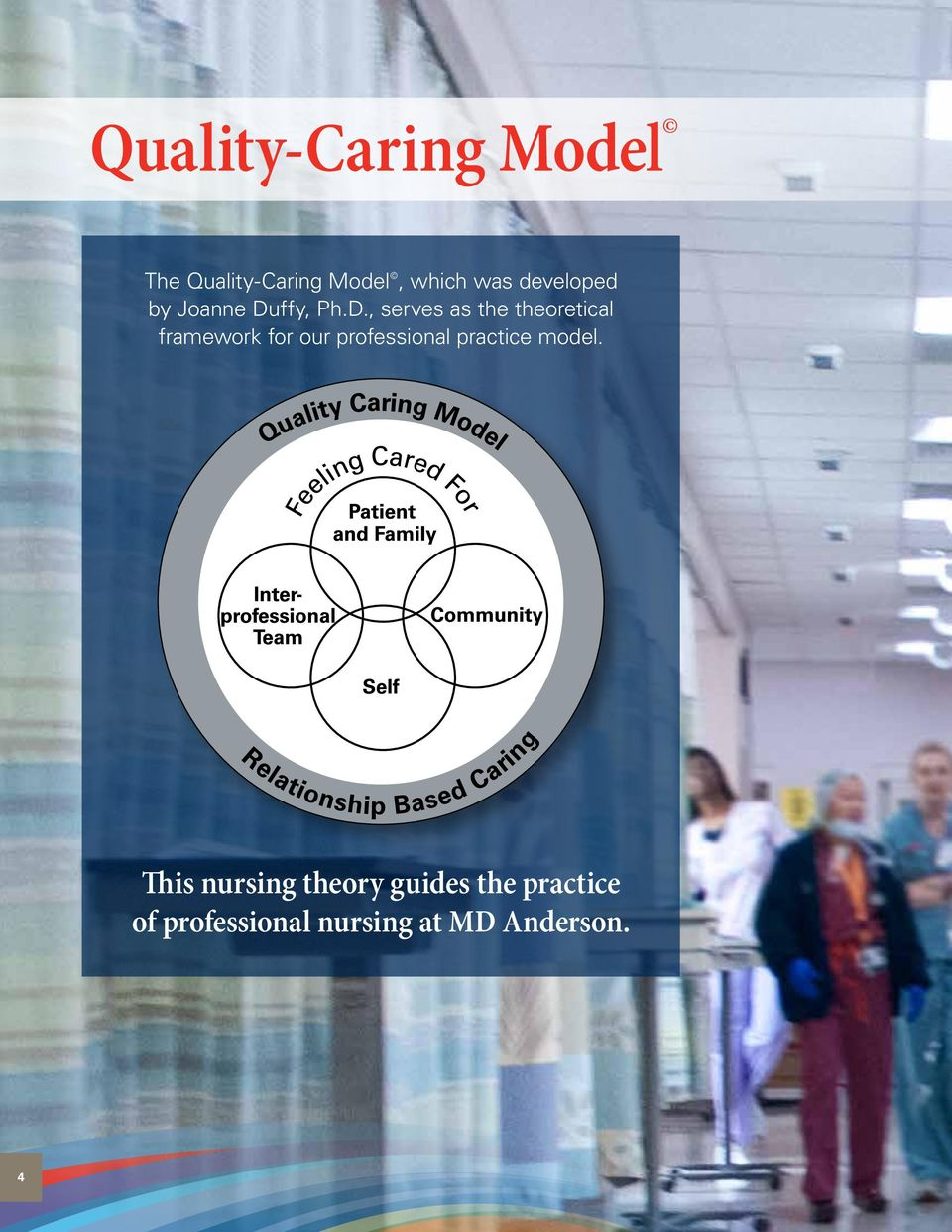 quality care model by joann duffy Antibiotic use in ontario facilities that provide chronic care mark  joann duffy rn , bschs, cic 6,  a random effects model was used so as to capture the.