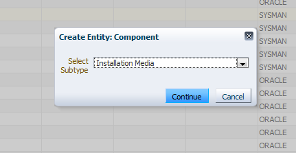 11. Select to create a component by clicking. Actions-> Create Entity -> Component. Figure 17 : Create Component 12.